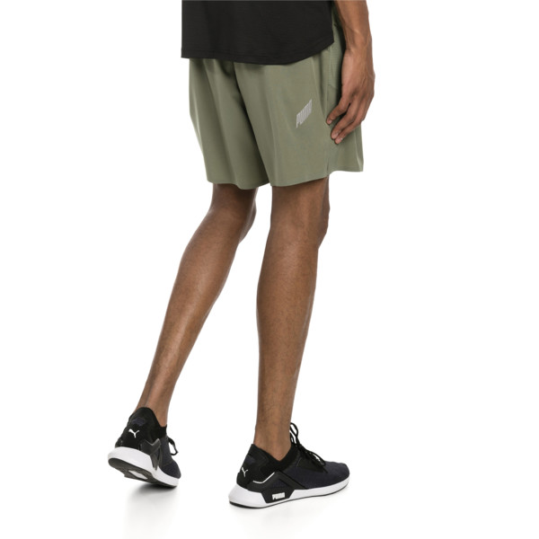 PACE Breeze Men's Running Shorts, Olivine-Puma Black, large