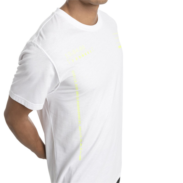 Energy Graphic Short Sleeve Men's Tee, Puma White, large