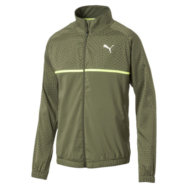 Energy Woven Men's Sweat Jacket, Olivine, large