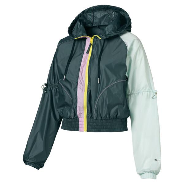 Cosmic Trailblazer Women's Jacket, Ponderosa Pine-Fair Aqua, large