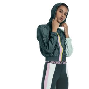 Thumbnail 1 of Cosmic Trailblazer Women's Jacket, Ponderosa Pine-Fair Aqua, medium