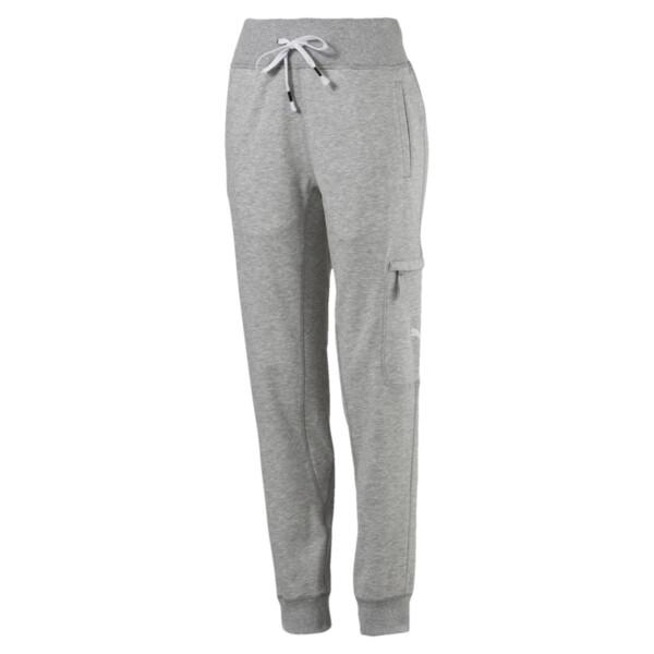Feel It Women's Sweatpants, Light Gray Heather, large