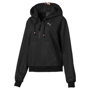 Thumbnail 3 of Feel It Cover Up Women's Half Zip Hoodie, 01, medium