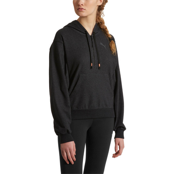 Feel It Cover Up Women's Half Zip Hoodie, 01, large