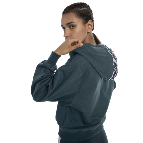 Feel It Damen Hoodie, Ponderosa Pine Heather, large