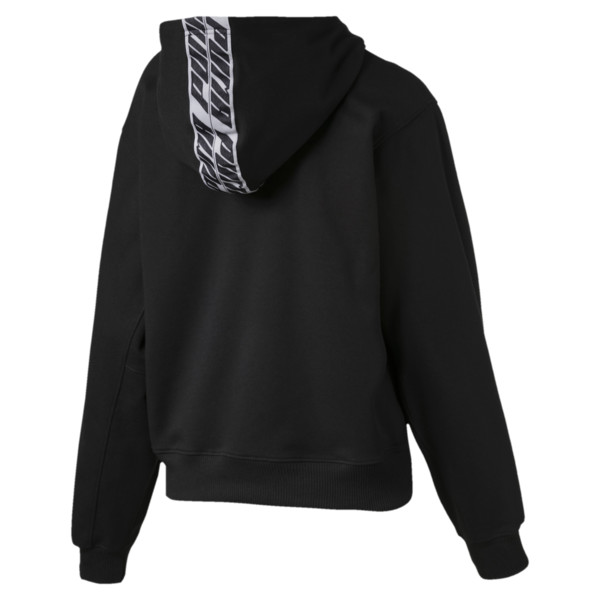 Feel It Cover Up Women's Half Zip Hoodie, Puma Black, large