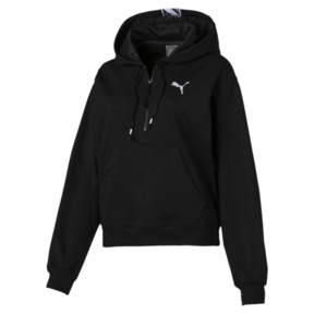 Thumbnail 5 of Feel It Cover Up Women's Half Zip Hoodie, Puma Black, medium