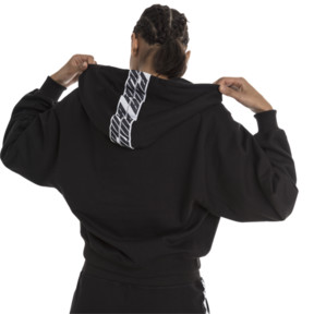 Thumbnail 2 of Feel It Cover Up Women's Half Zip Hoodie, Puma Black, medium