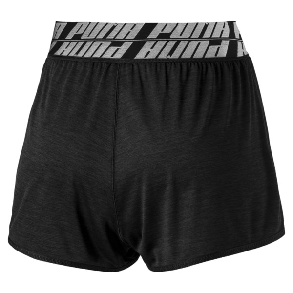 Short Own It Training pour femme, Puma Black Heather, large