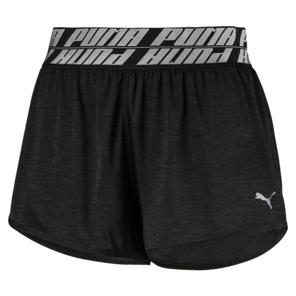 Own It Women's Training Shorts, Puma Black Heather, large