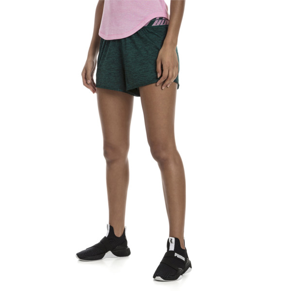 Own It Women's Training Shorts, Ponderosa Pine Heather, large