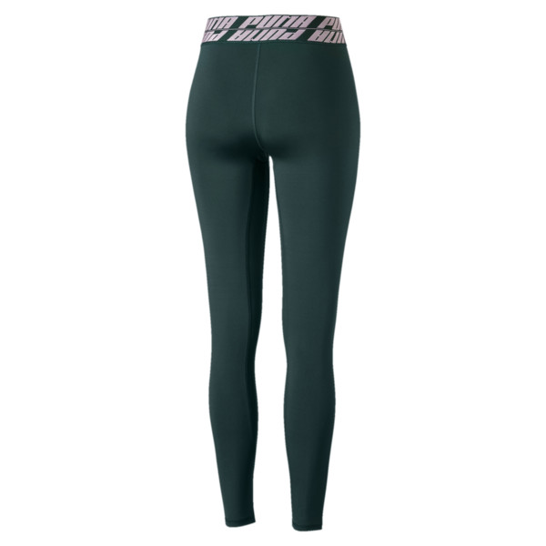 Own It Full Women's Training Tights, Ponderosa Pine-Fair Aqua, large