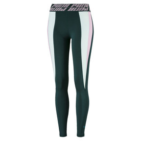 Thumbnail 4 of Own It Full Women's Training Tights, Ponderosa Pine-Fair Aqua, medium