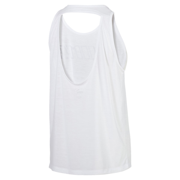 Own It Women's Tank Top, Puma White-PUMA wording, large