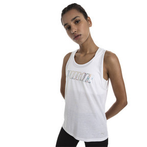 Thumbnail 1 of Own It Women's Tank Top, Puma White-PUMA wording, medium
