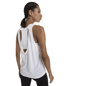 Thumbnail 2 of Own It Women's Tank Top, Puma White-PUMA wording, medium