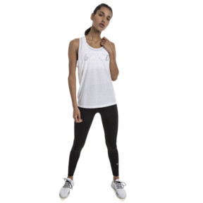 Thumbnail 3 of Own It Women's Tank Top, Puma White-PUMA wording, medium