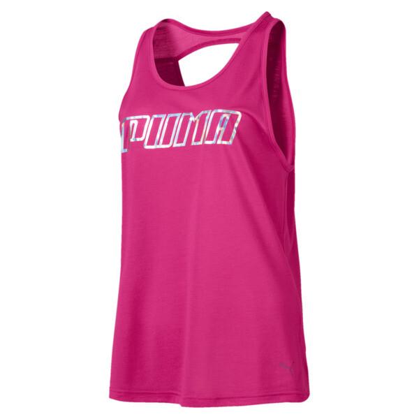 Own It Women's Tank, Fuchsia Purple-PUMA wording, large