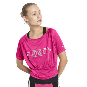 Thumbnail 1 of On the Brink Women's Tee, Fuchsia Purple, medium