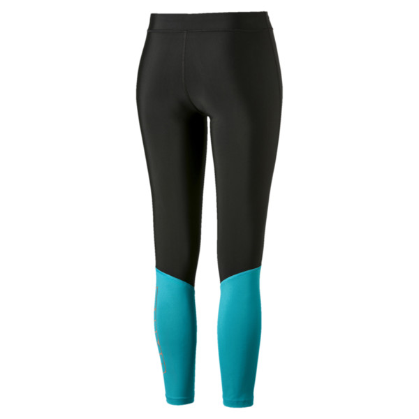 Aire 7/8 Women's Leggings, Puma Black-Caribbean Sea, large