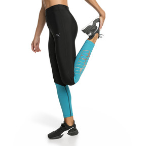 Thumbnail 1 of Aire 7/8 Women's Leggings, Puma Black-Caribbean Sea, medium