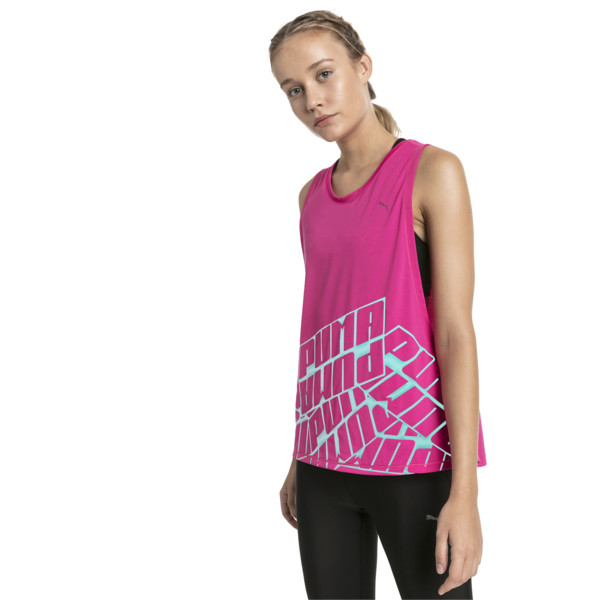 Aire Women's Tank, Fuchsia Purple Heather, large