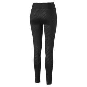 Thumbnail 5 of Bold Graphic Women's Training Leggings, Puma Black-Emboss, medium
