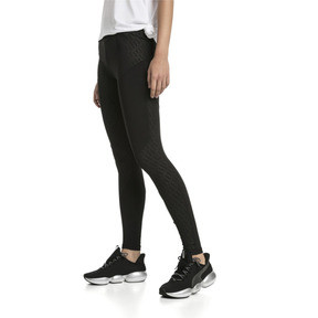 Thumbnail 1 of Bold Graphic Women's Training Leggings, Puma Black-Emboss, medium