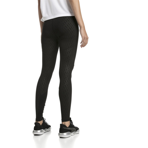 Bold Graphic Women's Training Leggings, Puma Black-Emboss, large
