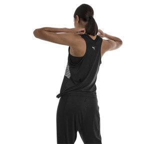 Thumbnail 2 of Women's Training Tank Top, Puma Black Heather, medium