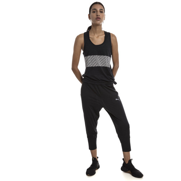 Women's Training Tank Top, Puma Black Heather, large