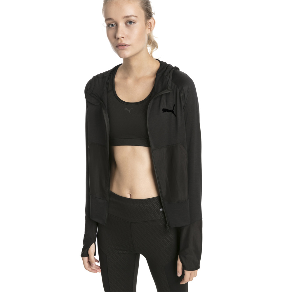 Image Puma Knockout Knitted Women's Sweat Jacket #2