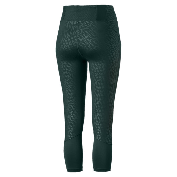 Bold Graphic 3/4 Women's Training Tights, Ponderosa Pine-Emboss, large