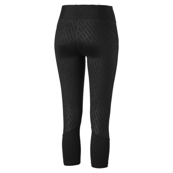 Bold Graphic 3/4 Women's Training Tights, Puma Black-Emboss, large