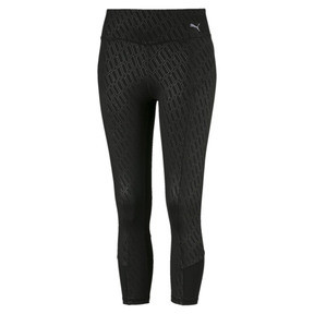 Thumbnail 4 of Bold Graphic 3/4 Women's Training Tights, Puma Black-Emboss, medium