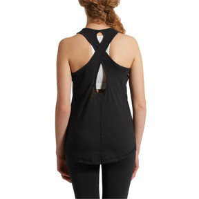 Thumbnail 2 of Twist It Women's Logo Tank, Puma Black Heather, medium