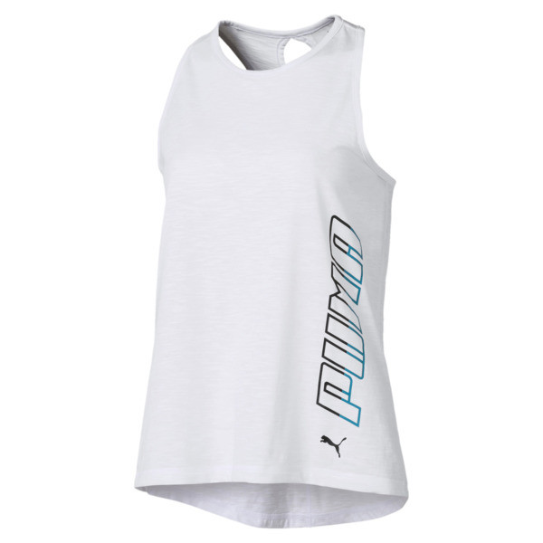 Twist It Women's Logo Tank, Puma White, large