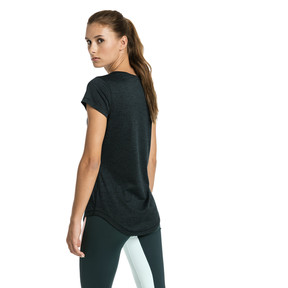 Thumbnail 2 of Heather Cat Short Sleeve V-Neck Women's Training Tee, Ponderosa Pine Heather, medium