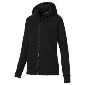 Thumbnail 4 of Yogini Knitted Full Zip Women's Track Jacket, Cotton Black, medium