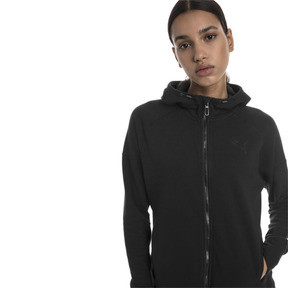 Thumbnail 1 of Yogini Knitted Full Zip Women's Track Jacket, Cotton Black, medium