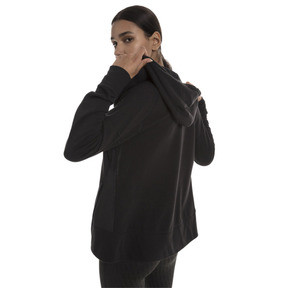 Thumbnail 2 of Yogini Knitted Full Zip Women's Track Jacket, Cotton Black, medium