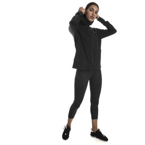 Thumbnail 3 of Yogini Knitted Full Zip Women's Track Jacket, Cotton Black, medium
