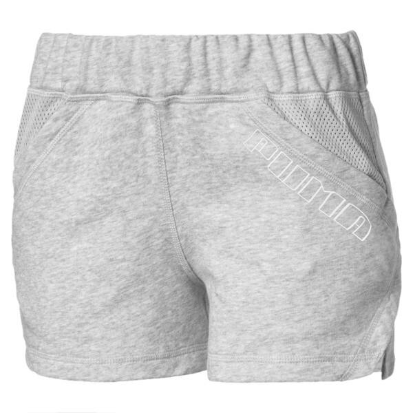 "A.C.E. Yogini 3"" Women's Training Shorts, Light Gray Heather, large"