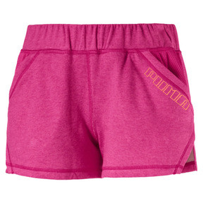"Thumbnail 4 of A.C.E. Yogini 3"" Women's Training Shorts, Fuchsia Purple Heather, medium"
