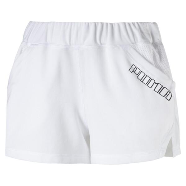 """Yogini Women's 3"""" Shorts, Puma White, large"""