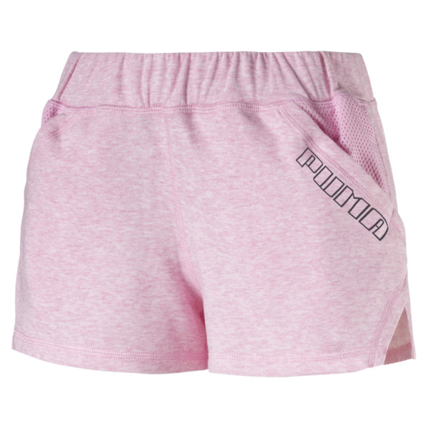 "Yogini Women's 3"" Shorts, Pale Pink Heather, large"