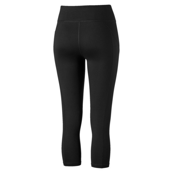 Yogini Women's 3/4 Logo Leggings, Puma Black, large
