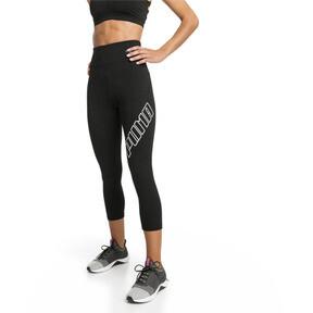 Thumbnail 1 of Yogini Logo 3/4 Women's Tights, Puma Black, medium