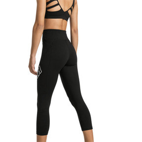Thumbnail 2 of Yogini Logo 3/4 Women's Tights, Puma Black, medium
