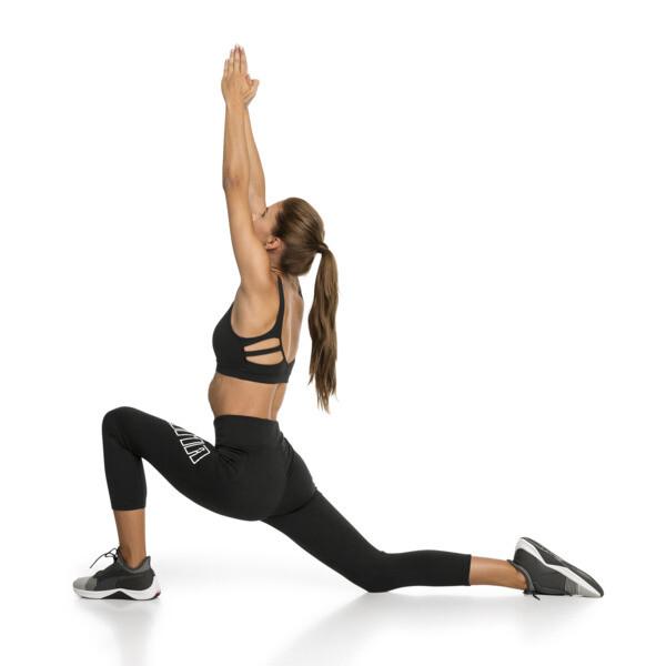 Yogini Logo 3/4 Women's Tights, Puma Black, large